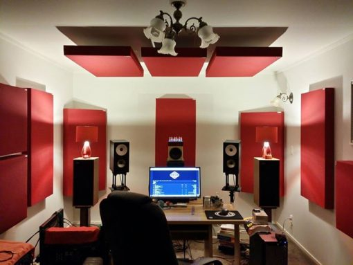 GIK 242 Acoustic Panels in Auckland NZ Studio Red Panels