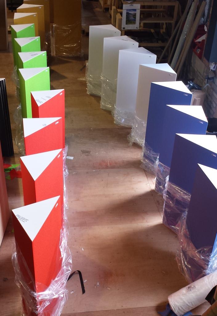 GIK Acoustics Tri-Traps ready for shipping