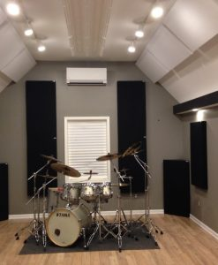Justin Vidal Home Studio Drums GIK Acoustics 242 Acoustic Panels