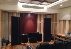 GIK Acoustics Q7d Diffusors in listening room