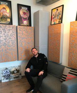 DJ Katch in Studio with GIK Acoustics Alpha Series panels