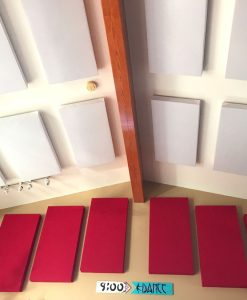 GIK Acoustics ceiling 242 acoustic panels red and white