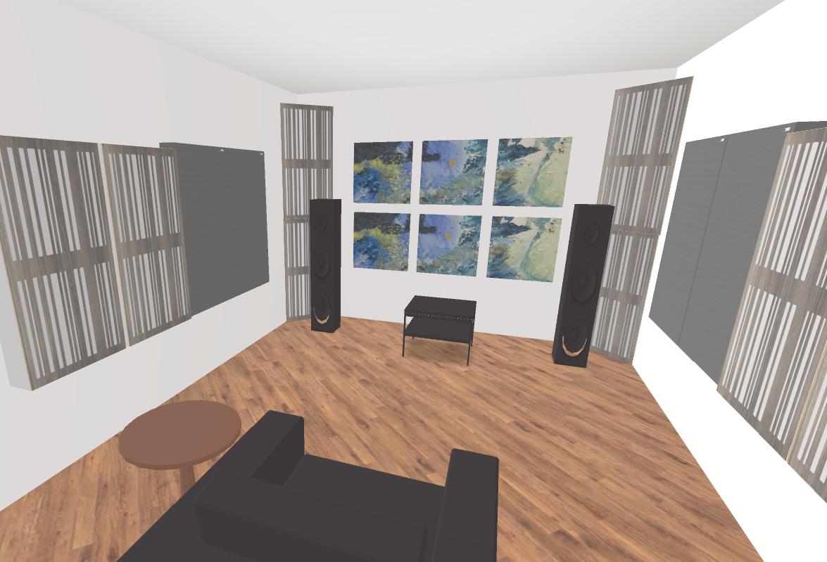 GIK Acoustics 2 Channel Listening Room Plan