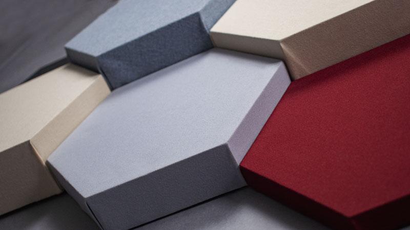 Decorative Acoustic Panels Hexagon DecoShapes many thicknesses