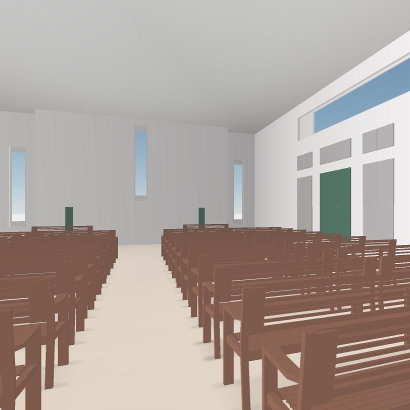 GIK Acoustics Church Acoustics Plan interior 3D modeling