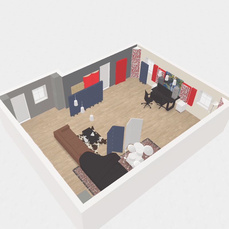 GIK Acoustics Recording Studio Live Room Plan