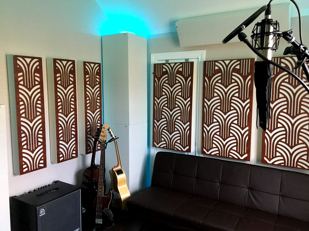 Impression Series Acoustic Panels Decorative Acoustic Panels in Live Room