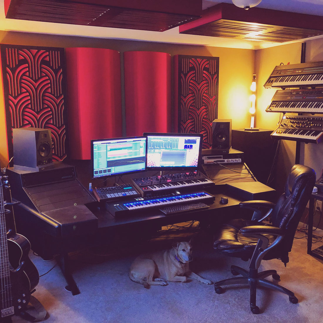 Home Studio with GIK Acoustics Absorbers and Diffusers and Impression Series