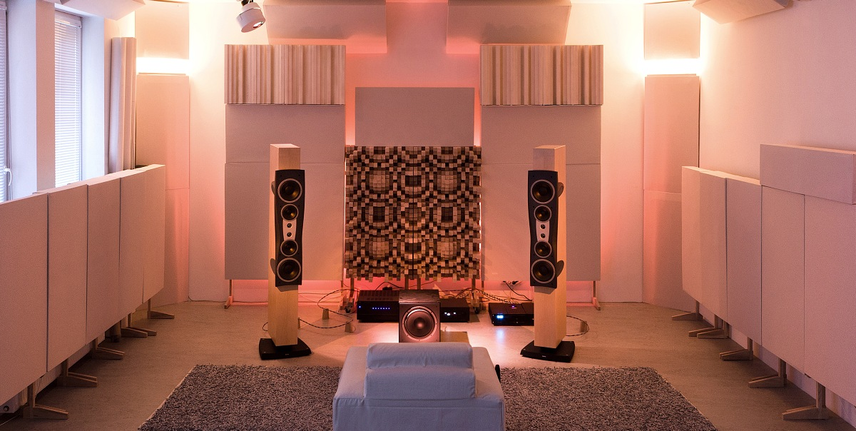 ZS Acoustics Demo Room with Gotham Sound Diffusers