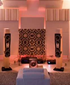 Sound diffusion and absorption in listening room